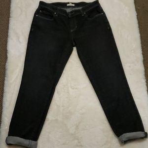Eileen Fisher Black Organic Cotton Jean's sz2